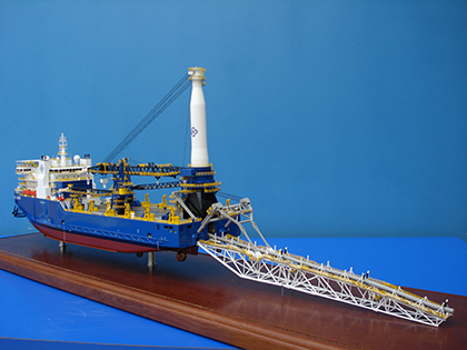 Pipelay Vessel Ship Model