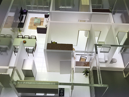 Unit Layout model with Lighting